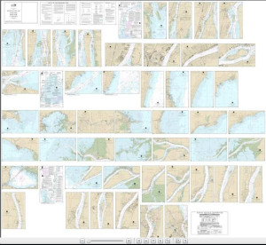 NOAA Small Craft Book Chart - 14853 Detroit River, Lake St. Clair and St. Clair River (book of 47 charts)