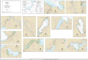 NOAA Small Craft Book Chart - 14886 Inland Route, Cheboygan to Conway (book of 12 Charts)