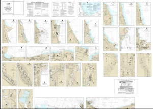NOAA Small Craft Book Chart - 14926 Chicago and South Shore of Lake Michigan (book of 30 charts)