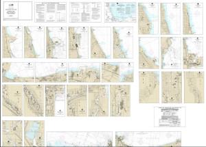 NOAA Small Craft Book Chart - 14916 Lake Winnebago and Lower Fox River (book of 34 charts)