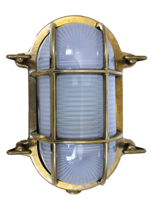 Weems & Plath Foresti Oval Brass Bulkhead Light
