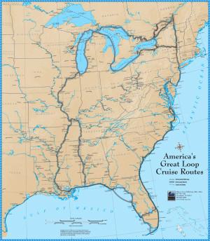 America's Great Loop Cruise Map