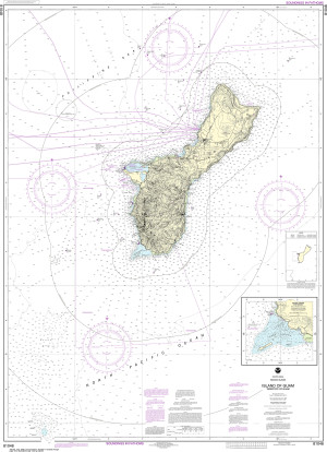 NOAA Nautical Chart - 81048 Mariana Islands Island of Guam Territory of Guam;Cocos Lagoon