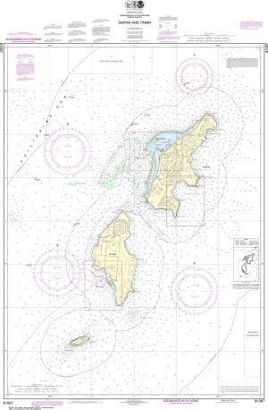 NOAA Nautical Chart - 81067 Commonwealth of the Northern Mariana Islands Saipan and Tinian