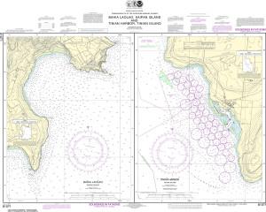 NOAA Nautical Chart - 81071 Commonwealth of the Northern Mariana Islands Bahia Laolao, Saipan Island and Tinian Harbor, Tinian Island