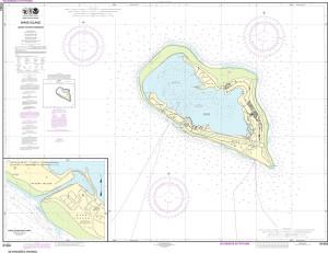 NOAA Nautical Chart - 81664 Wake Island; Wake Island Boat Basin