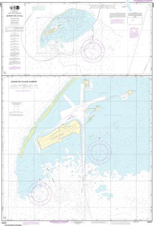 NOAA Nautical Chart - 83637 Johnston Atoll; Johnston Island Harbor