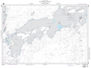 NGA Nautical Chart - 97021 Korea Strait to Tokyo-Wan including Shikoku and Kyushu (LORAN-C)