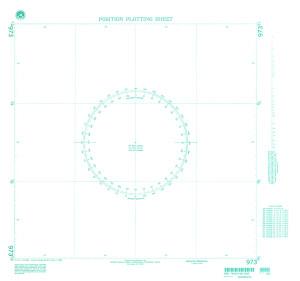 NGA Nautical Chart - 973 Plotting Chart 973