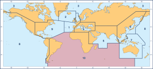 British Admiralty Region 10 Charts - South Atlantic and Indian Ocean (Southern Part)