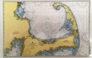 Maritime Tribes Placemat -Laminated Chart Print of Cape Cod and Islands