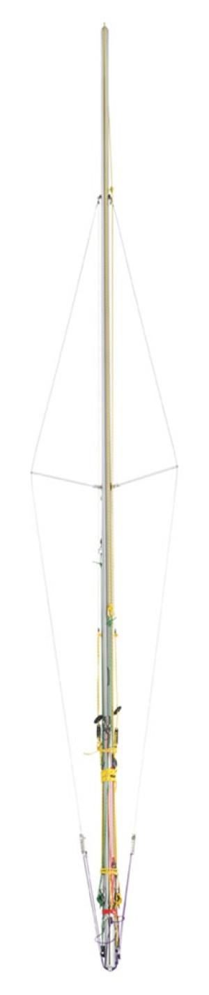 Club 420 Mast: Rigged
