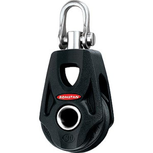 Ronstan OrbIt Series 30 Single Block with Swivel Shackle and Nylatron Sheave