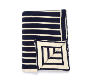 Darzzi Nautical Beach Stripes Throw Blankets