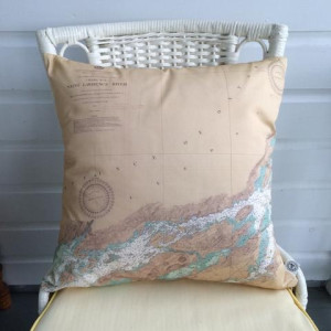 Golden Cleat Nautical Pillow 11x17