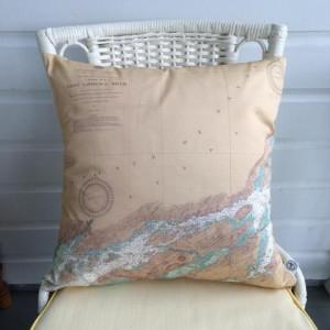 Golden Cleat Nautical Pillow 20 x 20