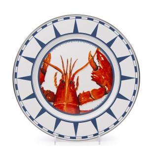 Golden Rabbit Lobster Dinner Plate