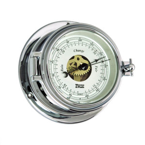 Weems & Plath Endurance II 105 Open Dial Barometer Chrome