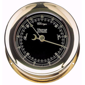 Weems & Plath Atlantis Premiere Barometer Black Dial/ Gold Scale