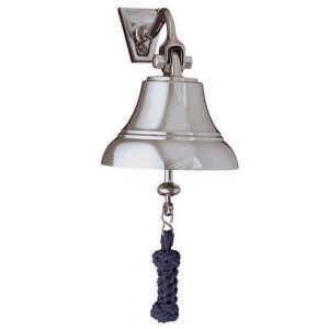 "Weems & Plath 5"" Nickel Bell w/ Navy Blue Lanyard"