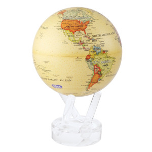 MOVA Globe - Political Map Yellow