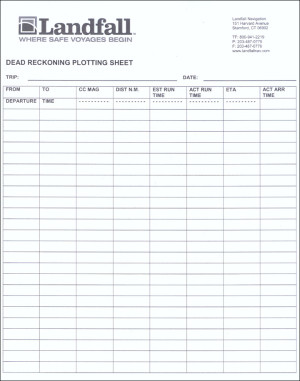 Dead Reckoning Plotting Sheet Pad