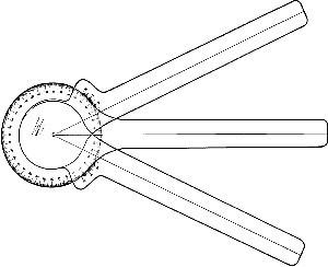 Weems & Plath Three Arm Protractor