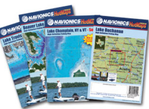 Navionics Paper HotMaps Lake Oahe CENTRAL NORTH, SD