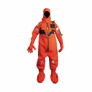 Mustang Neoprene Immersion Suit - HR - Red / Child