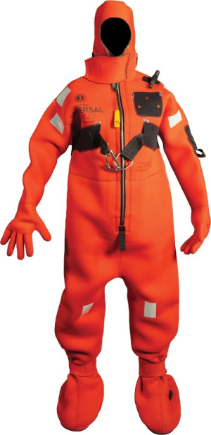Mustang Neoprene Immersion Suit - HR - Red / Adult Small