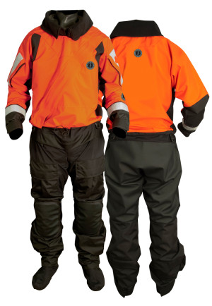 Mustang Lightweight Boat Crew Dry Suit with Drop Seat