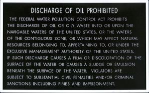 Plaque, Discharge OIL