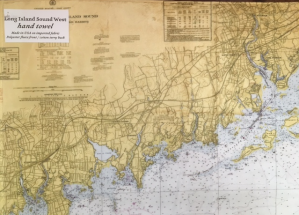 Maritime Tribes Hand Towel - Chart Print of Stamford, CT
