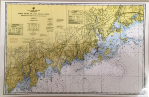 Maritime Tribes Placemat -Laminated Chart Print of Stamford, CT