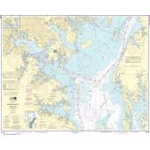 NOAA Nautical Chart - 12278 Chesapeake Bay Approaches to Baltimore Harbor