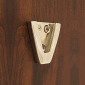 """Weems & Plath Nickel Wall Bracket for 4"""" Nickel Bell #4040N"""
